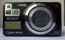 Sony Cyber-Shot DSC-W270 12.1MP Digitalkamera-Schwarz defekt für Ersatzteile Reparatur