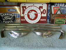 1957 Mercury Commuter Wagon Rear Side Glass Stainless ( 6 pc. set R & L ) 1958