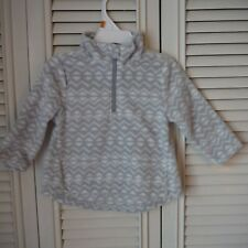 Girls Old Navy Gray Fleece Pullover size 12-18 months Triangle patterned New tag