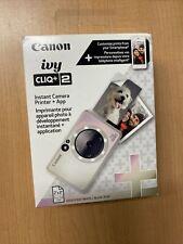 Canon - Ivy Cliq + 2 Instant Film Camera - Iridescent White New!!