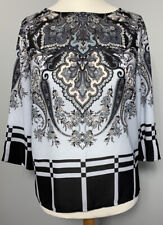 Adrianna Papell - Size S  3/4 Sleeve Boat Neck Top  Vgc Party/going Out/workwear
