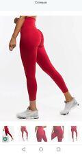 New Scrunch Bum High Waisted Leggings Echt Ryderwear Gym Shark S 8 Red Crossfit