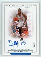 2019-20 Danny Manning 65/99 Auto Panini National Treasures Autographs