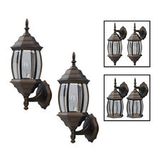Exterior Outdoor Lantern Light Fixture Wall Sconce Twin Pack - Oil Rubbed Bronze