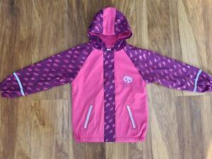 LUPILU WATERPROOF RAIN JACKET GIRLS 6-7 7-8 6-8 PINK COAT FLEECE LINED WINTER