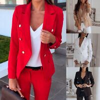 HOT Lady Long Sleeve Blazer Suit Coat Office Work Jacket Outwear Suit Jacket ILJ