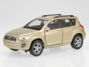 Toyota RAV4 3. Generation 2006-2009 sand diecast model car 43640 Welly 1:39