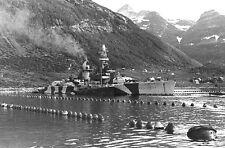 GERMAN POCKET BATTLESHIP LUTZOW IN NORWEGIAN FJORD IN 1942