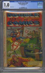 DOUBLE COMICS 1942 CGC 1.0 ELLIOT PUBLICATIONS SUPER RARE GOLDEN AGE WAR