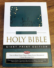 HOLY BIBLE NKJV LARGE PRINT -New Leathersoft -NEW KING JAMES -Flashy Blue Design
