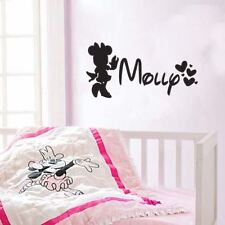 Minnie Mouse Inspired Personalized Name Vinyl Wall Decal Sticker