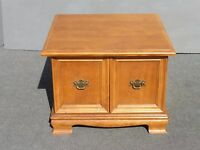 Vintage Ethan Allen Mid Century Modern Solid Wood End Table Nightstand