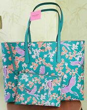 KATE SPADE MOLLY BIRD PARTY LARGE TOTE W/WRISTLET POUCH:NWT BIRD PARTY