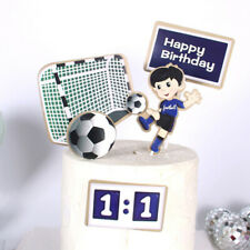 Football Happy Birthday Cake Topper Sports Theme Cartoon Kids Soccer Birthday_mc