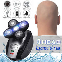 5 Head Electric Shaver Waterproof 4D Floating Head Bald Shaving Rechargeable  #%