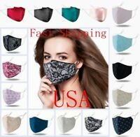 Fashion Face Mask Breathable Cloth Mouth Cover Reusable Washable Covering Unisex