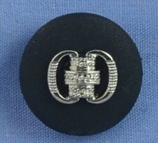 18mm Black / Silver Shank Button
