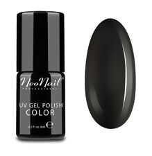 NeoNail uv Nagellack 6ml - Pure BLACK Schwarz Gel Polish Nagelgel Gellack