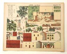 Pellerin Imagerie D'Epinal-No 350 L'Ete Le Ferme Grandes Construct Paper Model