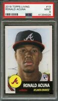 2018 topps living #19 RONALD ACUNA atlanta braves rookie card PSA 9