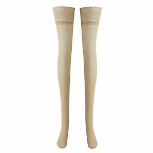 """1 Pair Women Lace Silicone Over Knee Stockings Slim Cosplay Thigh High Tight 24"""""""