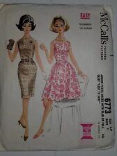 49beda411ff0 Abito Completo Slim Cartamodello Taglia 3 Petite Jr Mccalls 6773 Vintage  18.3ms