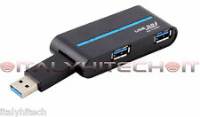 HUB USB 3.0 4 PORTE IN 1 HIGH SPEED SDOPPIATORE MOLTIPLICATORE PC LAPTOP