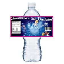 20 DISNEY CINDERELLA PERSONALIZED BIRTHDAY PARTY FAVORS WATER BOTTLE LABELS