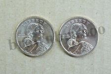 2018 P&D Native American Sacagawea Dollar Uncirculated Jim Thorpe 2 Coins $1