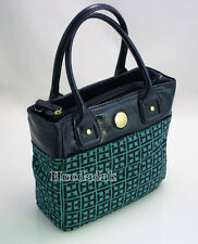 NWT Tommy Hilfiger Women's Handbag / Shopper Tote Bag  / Navy & Green