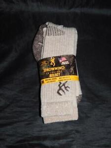 Browning NEW Womens Size 6-9 Brown Merino Wool Boot Socks USA Made Select Hike