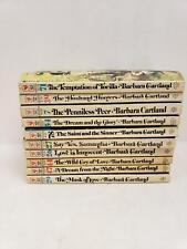 Lot of 10 Barbara Cartland Books Saint and the Sinner, Husband Hunters,