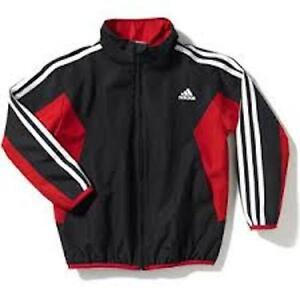 NEW Adidas Motion Wind Long sleeve Windbraker Jacket (Little Boys) Black 7X