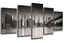 Cuadro Moderno Fotografico Ciudad Rascacielos base madera,145 x 62 cm ref. 26241