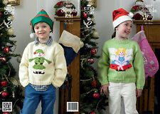 King Cole DK Pattern Christmas Jumper Sweater Pricewise Double Knitting 3807 New
