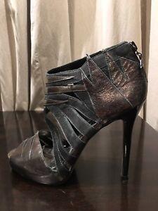 Rockstar Leather River Island Appliqué Bootie Shoes