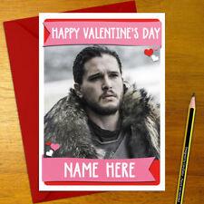JON SNOW Personalised Romantic Card - love valentine's anniversary game thrones