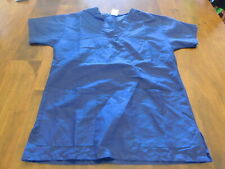 Medline Size Small Men's Scrub Top Blue