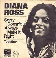 """DIANA ROSS – Sorry Doesn't Always Make It Right (1975 MOTOWN SINGLE 7"""" HOLLAND)"""