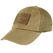 Condor - Tactical Cap with Mesh Back - Choice of 10 Colors or Camoflage #TCM Hat