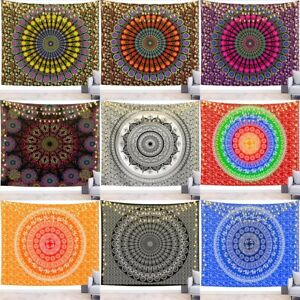 Peacock Mandala Cool Spiritual Trippy Wall Hanging Aesthetic Indie Boho Tapestry