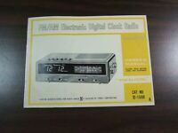 Vtg Chronomatic 205 Owners Manual AM/FM Electronic Digital Clock Radio Shack