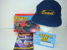 Vintage 96 CAMEL Blue Denim Embroidered BASEBALL CAP Hat. Brass Clasp NEW in BOX