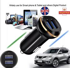 NEW 2 iN 1 DUAL USB 12-24V iOS ANDROiD LED BLACK BEST CAR CHARGER 4 ALL DEVICES