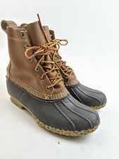 "Women's LL Bean 6"" Bean Boots Brown Leather Classic Sz 7"