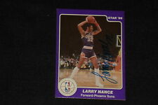 LARRY NANCE 1986 STAR BASKETBALL ROOKIE SIGNED AUTOGRAPHED CARD #34 SUNS