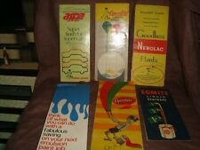 6 old vintage paints color shades cards from India 1970