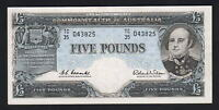 Australia R-50. (1960) Five Pounds . Coombs/Wilson -  Reserve Bank.. gEF