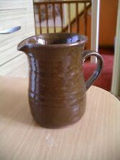 "Little Vintage Stoneware Brown Milk Jug/Creamer, Rustic, Earthenware 4"" tall"