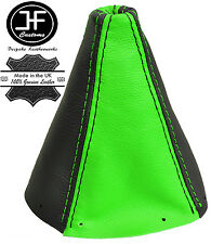 BLACK & GREEN REAL LEATHER GEAR GAITER FOR AUDI TT MK1 COUPE ROADSTER 1998-2006